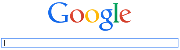 Image of Google search engine where keywords are used to find websites