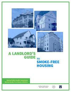 Cover of the landlord guide for the Smoke Free Housing project