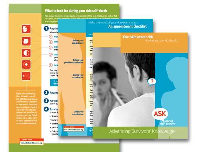 Images of Alan Geller's ASK Study print materials