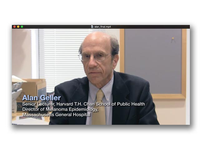 Screenshot showing P.I. Alan Geller talking about the ASK study