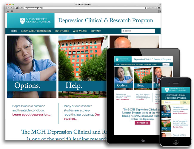 DCRP homepage in desktop, tablet, and mobile sizes