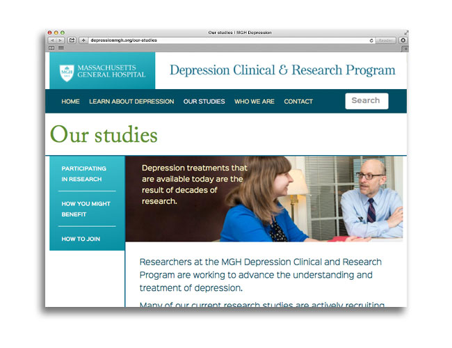 Our studies page of the DCRP website
