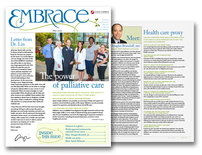 Image of Nancy Lin's EMBRACE newsletter for research retention