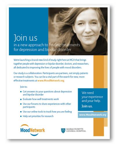 Flyer for a PCORI project using patient-centered communication services