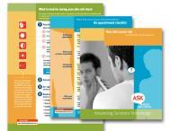 Images of Alan Geller's ASK Study print materials